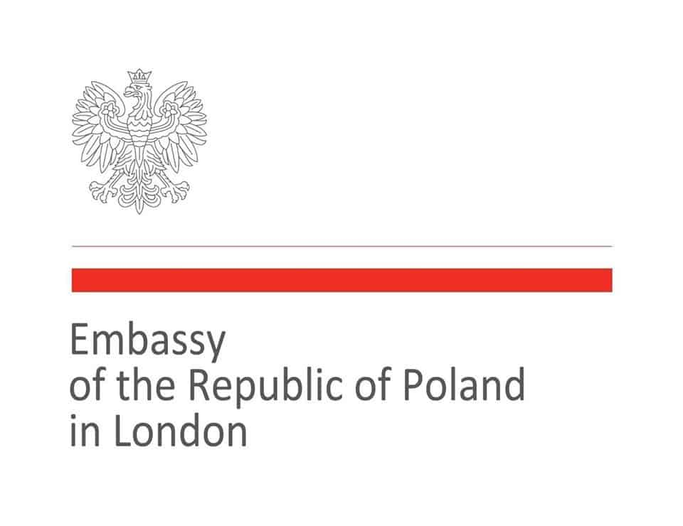 Polish Embassy - London logo and website link
